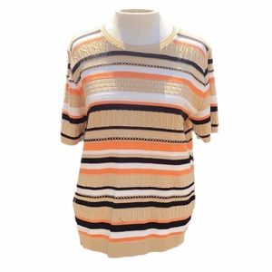 Alfred Dunner striped sweater, petite large
